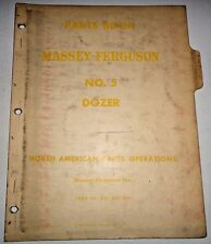 Massey Ferguson No. 5 Dozer Parts Catalog Book Manual Original! Tractor Mounted