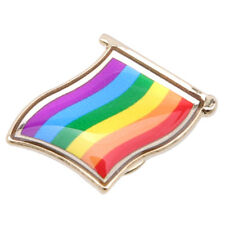 Rainbow Flag Lapel Metal Pin Badge - LGBT Lesbian Gay Diversity Pride Symbol 6A