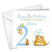 PERSONALISED cute  birthday card for boys 1st, 2nd, 3rd, 4th any age!