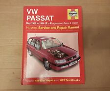 VW PASSAT HAYNES MANUAL 1988 TO 1996 (E to P reg) PETROL & DIESEL MODELS