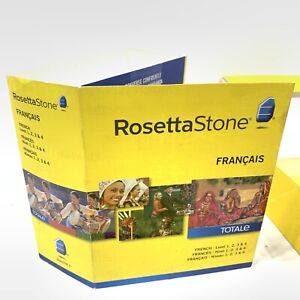 2012 Rosetta Stone Francais Level 1, 2, 3 & 4 French Version 4 TOTALE