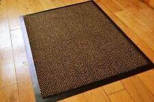 BISEN ALL SIZES BROWN BLACK BARRIER MAT HEAVY DUTY RUBBER BACK WASHABLE RUNNER