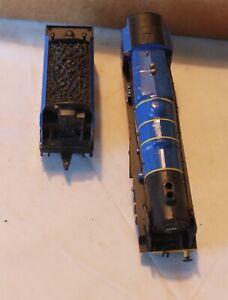 "VINTAGE HO RAILROAD STEAM ENGINE ""BLUE"" BY TYCO"