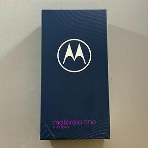 NEW Motorola One Fusion+ Plus 128GB Twilight Blue Unlocked Android Smartphone