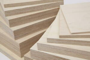 Birch Plywood Ply Boards 6mm - 24mm 1'x1' - 4x2' Cut To Size Sheets Grade BB/CP