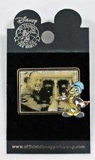 Disney Pin Jiminy Cricket With Photo Of Walt Disney Collectible Trading Pin