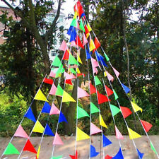 80m Triangle Flags Bunting Banner Pennant Festival Wedding Party Decor