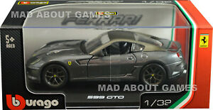 FERRARI 599 GTO 1:32 Scale Model Models Metal Toy Car Diecast Miniature Grey