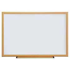 UNIVERSAL Dry Erase Board Melamine 36 x 24 Oak Frame 43619