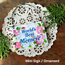 DecoWords Ornament Mini Sign World's Best MEMERE Wood Grandparent Names USA New