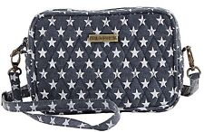 WESTPORT UPTOWN CROSSBODY CHAMBRAY WITH DISTRESSED STARS 6.75 X 4.75 X 1.75""