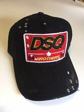 New Dsquared Distressed Brothers DSQ2 Dsquared2 Baseball Cap - UK Seller