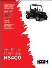 Hisun HS 400 UTV Service, Owners & Parts CD Coleman Bennche Massimo Qlink YS400