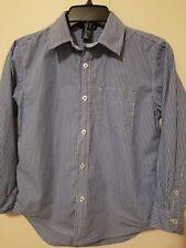GAP boys Button Up Blue Striped Cotton Shirt Size Medium 8
