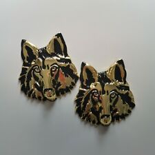 3D WOLF HEAD LOGO Car Auto Badge Emblem Sticker Motor 3D Metal Brass New