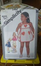 Oop Simplicity 5467 toddlers summer beach sundress panties sz 1-3 UNCUT