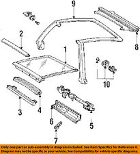 GM OEM Glass-Roof-Weatherstrip Seal Strip Right 10198352