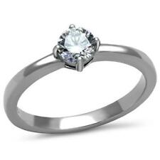 2903 .50ct SOLITAIRE WOMENS SIMULATED DIAMOND RING ENGAGEMENT stainless steel