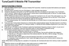 Belkin TuneCast II FM Transmitter F8V3080 for All iPod iPhone MP3 Player White