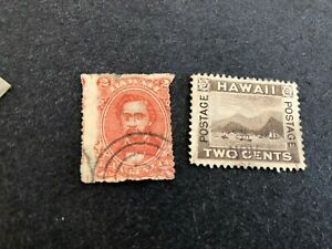 HAWAII 2 STAMPS USED C823