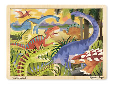 Melissa & Doug Dinosaurs  Kids Wooden Jigsaw Puzzle 24pc 9066