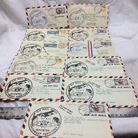 12 Vintage 1938 Letter Covers Air Mail Week Wooster Northwest Territory