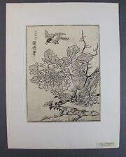 Ooka shunboku (1680-1763 Giappone) - ukiyo-e taglio di legno-Fiore e Uccelli (23)