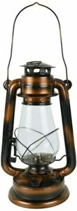 Hurricane Lamp Petroleum From Metal Bronze Finish