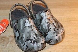Wonder Nation Boy's Faux Fur Lined Clog Sandals Garden Shoes with Heel Strap