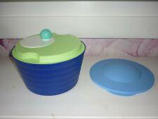 Tupperware Salatschleuder 4,5 Liter blau grün Salat Trockner RAR