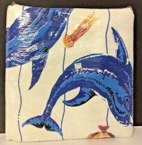 "New Dolphin Design Blanket 60"" x 90""  Polyester & Nylon 50/50"