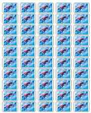 """50 Super Grover Envelope Seals / Labels / Stickers, 1"""" by 1.5"""""""