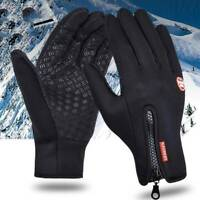 Mens Womens Winter Warm Windproof Waterproof Thermal Touch Screen Gloves Mittens