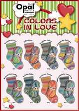 8 x 100 gr. Sockenwolle/Strumpfwolle Opal Colors in Love   !!!Top Neuheit  !!!