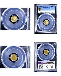 1849-O G$1 MS62+ PCGS-GOLD DOLLAR---