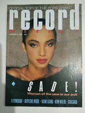 Record Mirror Magazine January 1985 Sade Brookside Depeche Mode Kim Wilde Chicag