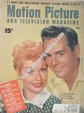 LUCILLE BALL & DESI ARNAZ - MOTION PICTURE & TELEVISION  MAGAZINE - MAY 1954