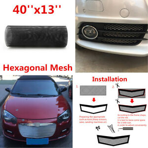 Hexagonal Style Aluminum Grille Net Mesh Grill Section for Car SUV Bumper Fender