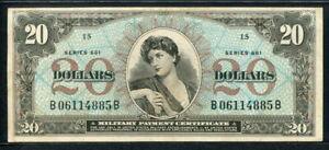 USA 1968, Military Payment, Series 661, 20 Dollar, B06114885B, M71, VF