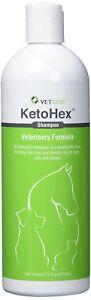 KetoHex Antiseptic Pet Shampoo Deep Cleaning & Deodorizing Dog Cat & Horse 16oz
