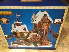 LEMAX Christmas Village Elf Made Toy Factory With 4.5V Adaptor -New