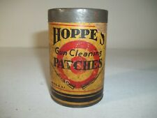 Vintage 1930's Hoppe's Gun Cleaning Patches Tin 270-.35 Caliber Full Of Patches