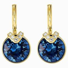 Swarovski 5498875 Bella V  Pierced Blue Crystal Gold Plated Earrings 1.8cm RRP89
