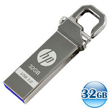 HP USB 3.0 32GB 32G LOCK HOOK Flash Pen Thumb Key Drive Data Memory Stick Metal