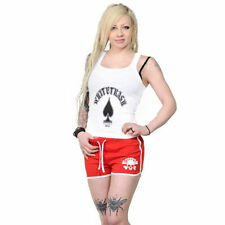 Patternless Regular Size Cotton Sporty Shorts for Women