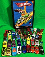 Hot Wheels Built For Speed Carry Case With Lot Of 51 Hot Wheels Cars Included