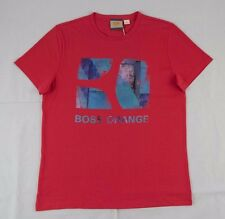 BNWT Hugo Boss Red Graphic Short Sleeve T-Shirt 100% Authentic GR-Toy sz L