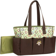 Baby Boom Monkey Brown Large Tote Nappy Diaper Bag w/ Changing Pad NEW