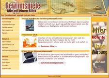 WEBSITE Gewinnspiel Verzeichniss HTML + Geld verdienen mit Anzeigen Wow E-LIZENZ
