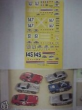 FERRARI 250 SWB TOUR DE FRANCE 1961 1/43 DECAL
